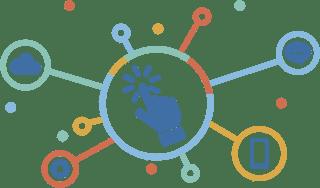 pictogramme d'un réseau